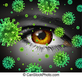 Eye Infection - Eye infection as a contagious ocular disease...