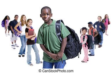 escuela, niños, diversidad