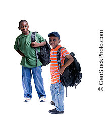 African American Students - Two young african American...