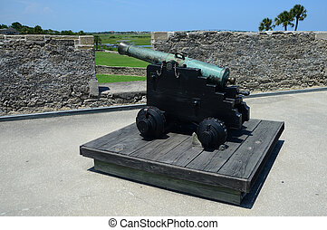 cannon at Castillo de San Marcos fort