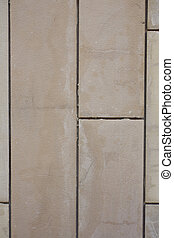 Not painted tiles from cement finishing, located vertically