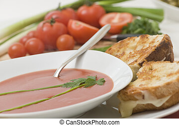 Tomato Soup - A fresh healthy bowl of tomato soup