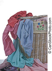 Dirty Laundry - A hamper full of dirty clothes...never...