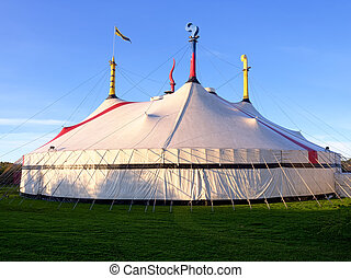 big top circus tent - a big circus tent on a beautiful sunny...