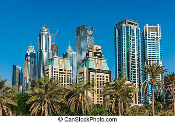 Yacht Club in Dubai Marina. UAE. November 16, 2012 - DUBAI,...