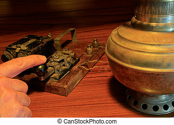 An old telegraph system.