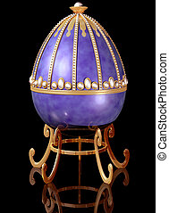 Highly decorative jeweled Russian Easter Egg - Illustration...