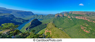 Blyde River Canyon and The Three Rondavels (Three Sisters)...