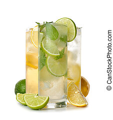 cold drinks - various cold drinks isolated on white...