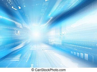 Digital background image - Digital blue background image...