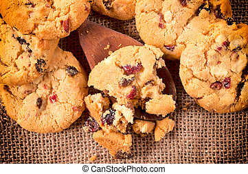 Homemade cookies - Selective focus on the homemade cookies...