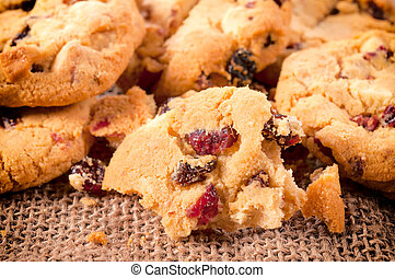 Cookies time - Crumbles of the fresh baked homemade cookies...