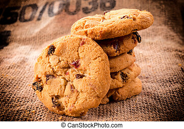 Cranberry sweets - Homemade cranberry cookies with white...