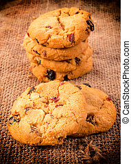 Cookies time - Selective focus on the front homemade...