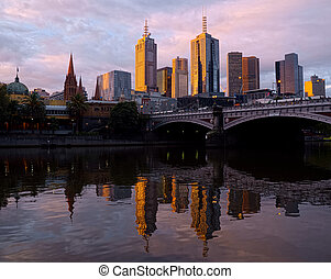 Sunset over Melbourne - Beautiful sunset in Melbourne...