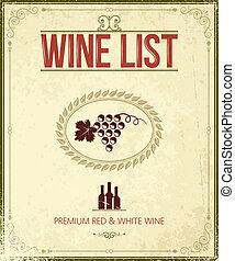 vintage wine background