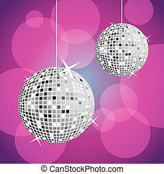 disco balls - retro party background with disco balls