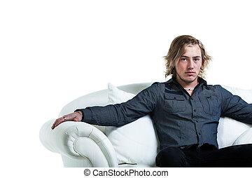 sofá, relajante