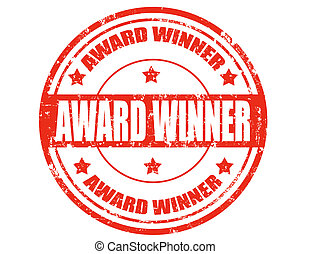 Award winner-stamp - Grunge rubber stamp with text Award...