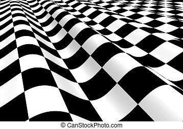 Black-white plane with wave