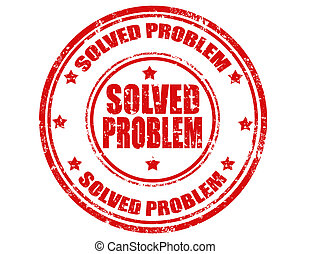 Solved problem-stamp - Grunge rubber stamp with text Solved...