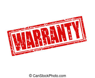 Warranty-stamp - Grunge rubber stamp with word Warranty...