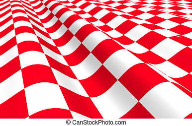 Red-white plane with wave