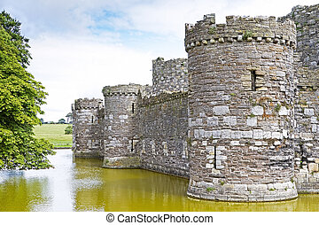 Beaumaris castle in Anglesey, North Wales