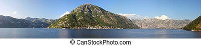 Bay of Boka Kotorska in sunny weather - Bay of Boka Kotorska...