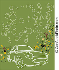 abstract background with car