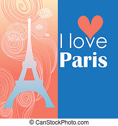 paris postcard - Paris card as a symbol of love and romance...