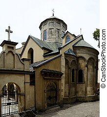 Armenian Cathedral of Assumption of Mary,Lviv,Ukra -...