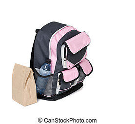 Backpack - A school backpack isolated on white