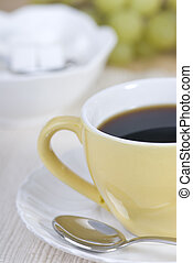 Morning Coffee - a fresh cup of morning coffee with one lump...