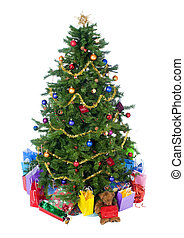 Christmas Tree - An isolated Christmas tree ready for Santa