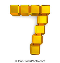 number 7 cubic golden