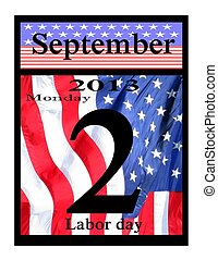 2013 labor day calendar icon