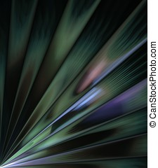 Fanning Greens Abstract - Fanning stripes of colorful greens...
