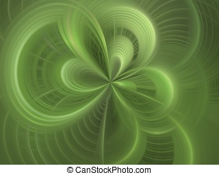 Green Woven Abstract - Green, woven and curving textures -...