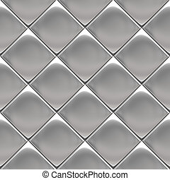 Metal silver checked pattern - Metal background or texture...