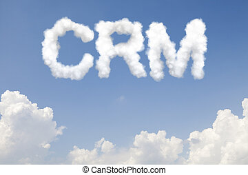 CRM concept text in clouds - Customer relationship...