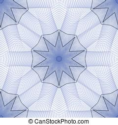 Woven Star Abstract - Seamless tile, woven star design -...