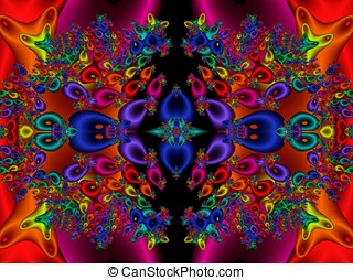 Solid Kaleidoscope Abstract - Bright, solid colored...