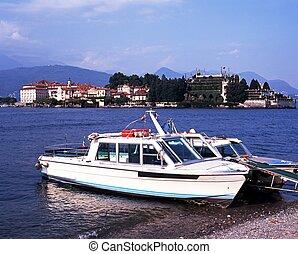 barche, lago, maggiore, Stresa