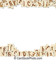 Writing pad - Vintage background with the letters Vintage...
