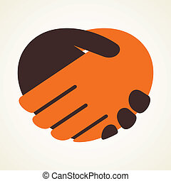 handshake icon stock vector