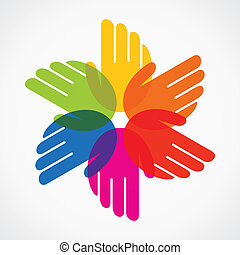 colorful hand make flower stock vector