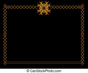 Gold elegant background 1 - Gold elegant frame design on a...