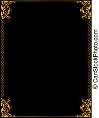 Gold elegant background 5 - Gold elegant frame design on a...