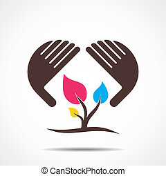 secure or save nature icon concept stock vector